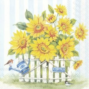 Decoupage napkins 25x25cm, 20 pcs. - SUNFLOWER GARDEN C863200