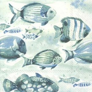 Decoupage napkins 33x33cm, 20 pcs. - AQUAWORLD FISH L871100
