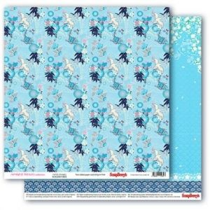 "Double-sided paper 12""x12"" - Japanese Dreams, Paper Cranes SCB220610605"