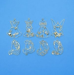 Charms Princess, 8 pieces, IBEZEL
