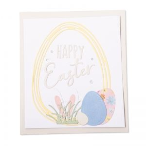Sizzix Thinlits Die Set 18PK - Easter Sentiments 664373