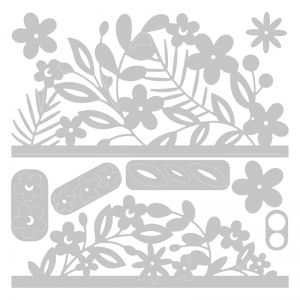 Sizzix Thinlits Die Set 9PK - Floral Edges 664395