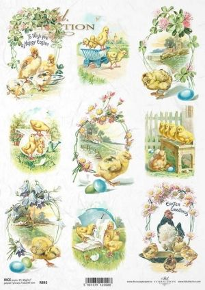 Decoupage Rice Paper A4 - Easter ITD-R845