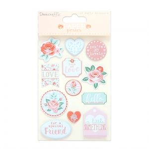 Dovecraft Stickers (12pcs) - Paper Posies Puffy Stickers DCSTK089