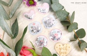 Dovecraft Shaker Stickers (6pcs) - Paper Posies Puffy Stickers DCSTK090