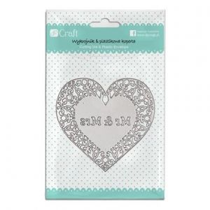 Cutting Dies - Openwork heart Mr and Mrs JCMA-079