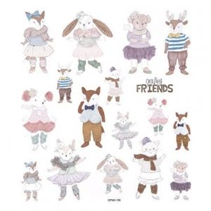 Glitter stickers 17 pcs - Crafty Friends DPNK-109