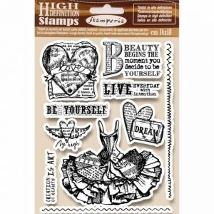 Rubber stamp 14x18cm - Fly high WTKCC165