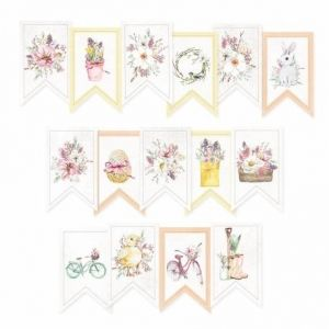 Decorative flags / banners 15pcs - The Four Seasons - Spring P13-SPR-32