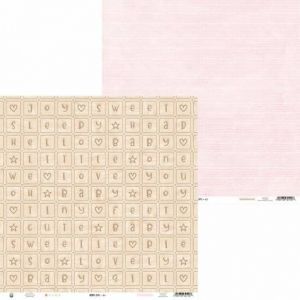"Double-sided scrapbook paper 12""x12"" - Baby Joy P13-BAB-01"