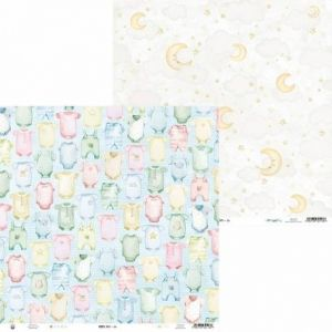"Double-sided scrapbook paper 12""x12"" - Baby Joy P13-BAB-04"