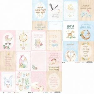 "Double-sided scrapbook paper 12""x12"" - Baby Joy P13-BAB-05"