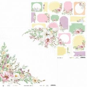 "Double-sided scrapbook paper 12""x12"" - The Four Seasons - Spring P13-SPR-06"