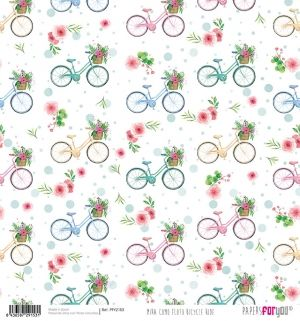 Decoupage Rice Paper 30x30 cm - Mira como floto bicycle ride PFY-2153