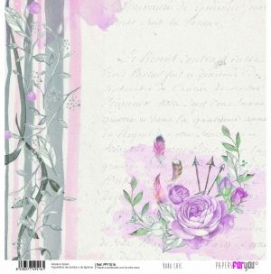 "Double-sided scrapbook paper 12""x12"" - Boho chic PFY-1516"