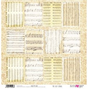 "Double-sided scrapbook paper 12""x12"" - The old school PFY-1228"