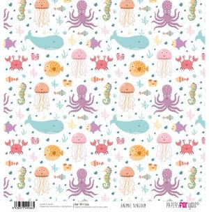 "Double-sided scrapbook paper 12""x12"" - Animal kingdom PFY-1266"