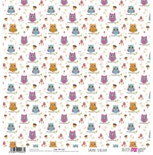 "Double-sided scrapbook paper 12""x12"" - Animal kingdom PFY-1267"