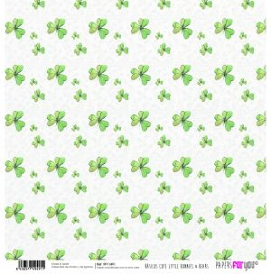 "Double-sided scrapbook paper 12""x12"" - Cute little bunnies PFY-1491"