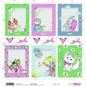 "Double-sided scrapbook paper 12""x12"" - Puppy love PFY-1540"