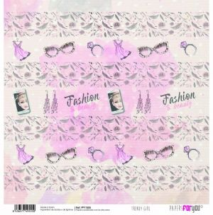 "Double-sided scrapbook paper 12""x12"" - Trendy girl PFY-1555"
