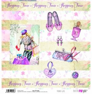 "Double-sided scrapbook paper 12""x12"" - Trendy girl PFY-1556"