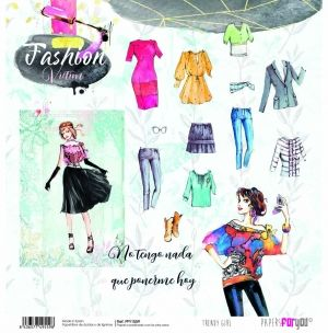 "Double-sided scrapbook paper 12""x12"" - Trendy girl PFY-1559"
