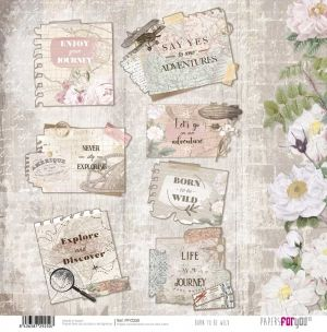 "Double-sided scrapbook paper 12""x12"" - Born to be wild PFY-2250"