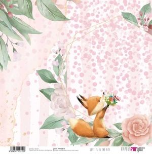 "Double-sided scrapbook paper 12""x12"" - Love is in the air PFY-2412"