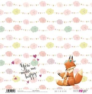 "Double-sided scrapbook paper 12""x12"" - Love is in the air PFY-2414"
