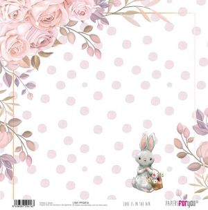 "Double-sided scrapbook paper 12""x12"" - Love is in the air PFY-2416"