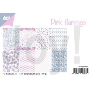 Paper pad A4 12 sheets - Pink flamingo 6011-0624
