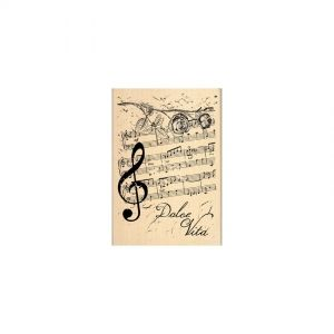 Rubber stamp 7 X 10 cm - Notes de musique FG114039