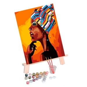 Painting by numbers 40x50cm - Portrait of an African MG2112e
