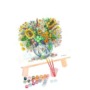 Painting by numbers 40x50cm - Sunflowers in a Vase MG2062e