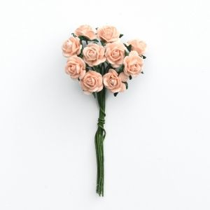 Paper Blossoms 10 pcs - Peach roses MKX-727