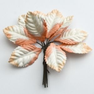 Paper Blossoms 10 pcs - 2-tone leaves MKX-486