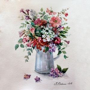Painting by numbers 40x50cm - Flower Rhapsody MG2057e