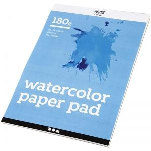 Watercolor Paper Pad A4 20 sheets - C22107