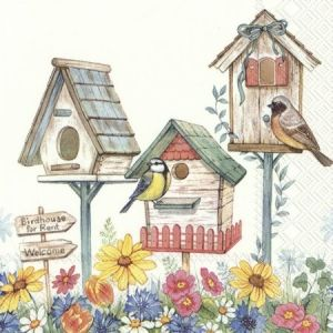 Decoupage napkins 33x33cm, 20 pcs. - BIRDHOUSE FOR RENT L858600