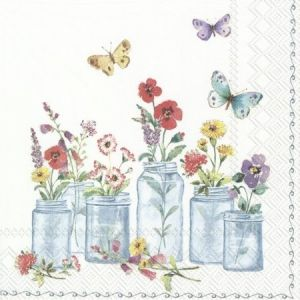 Decoupage napkins 33x33cm, 20 pcs. - SUMMER JARS L846790