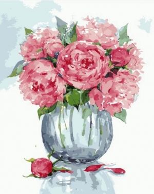 Painting by numbers 40x50cm - Gentle Peonies MG2065e