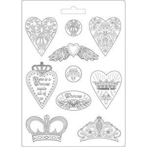 Soft Moulds A4 - Hearts and crowns K3PTA471