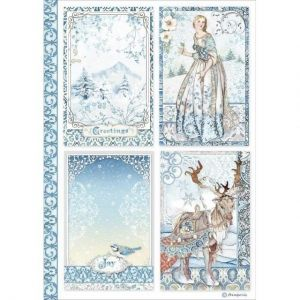Decoupage Rice Paper A4 - Cards DFSA4490
