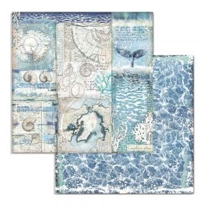 "Double face scrap paper 12""x12"" - Shells SBB731"