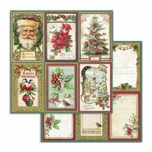 "Double face scrap paper 12""x12"" - Merry Christmas cards SBB703"
