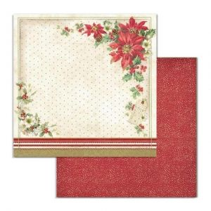 "Double face scrap paper 12""x12"" - Poinsettia SBB705"