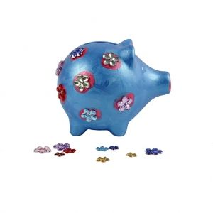 Ceramic Money Bank, white, 1 piece  - Piggy C556401