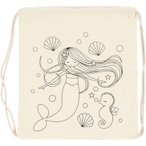 Colouring Drawstring Bag, 1 piece - Mermaid C499653