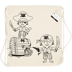 Colouring Drawstring Bag, 1 piece - Pirates C499651